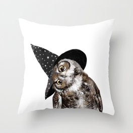 Happy Halloween Owl Throw Pillow