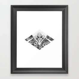 Geometric Nature Framed Art Print