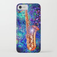 saxophone iPhone & iPod Cases featuring Saxophone by JT Digital Art