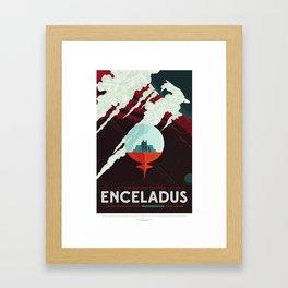 Enceladus Framed Art Print
