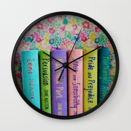 Jane Austen Library Wall Clock