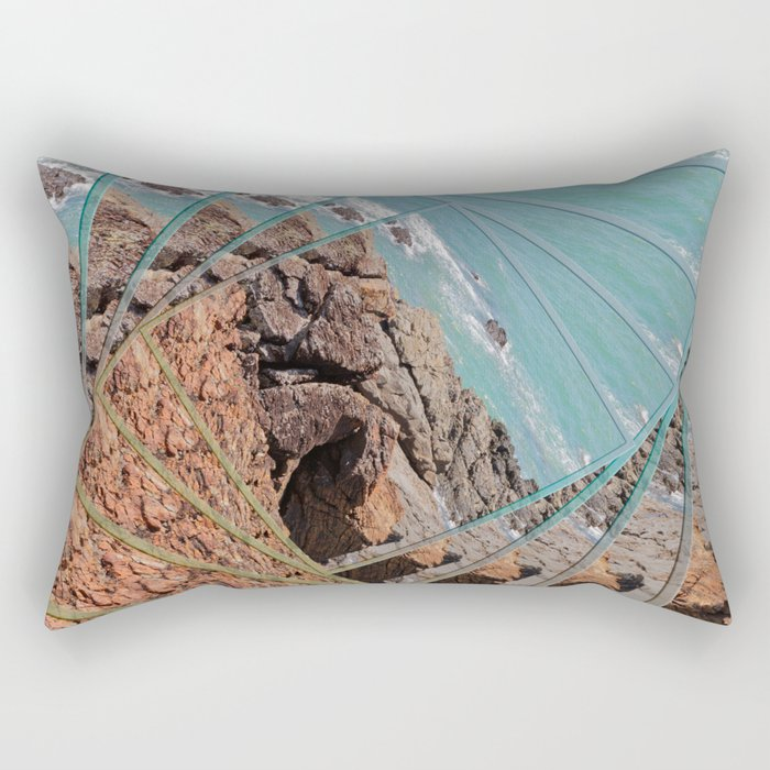 Ocean View in a Twist Rectangular Pillow