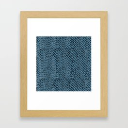 Hand Knit Niagra Blue Framed Art Print