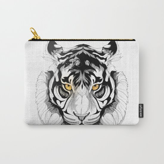 Tiger (black stroke version for t-shirts) Carry-All Pouch