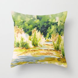 Hafren Reeds Throw Pillow