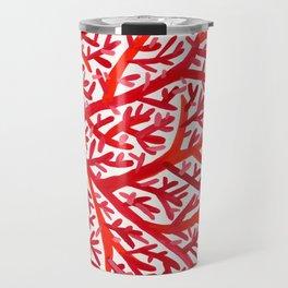 Red Fan Coral Travel Mug