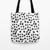 polka dot Tote Bags featuring Polka dot by Lolita Stein