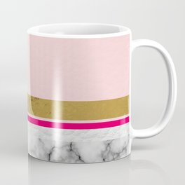 Blush Leather & Marble Coffee Mug