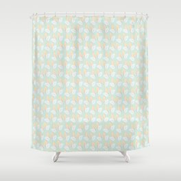 Classic leaves in green Shower Curtain