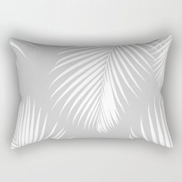 Gray Tropical Pattern Rectangular Pillow