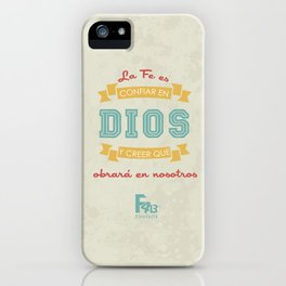 Confianza en Dios iPhone Case
