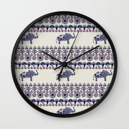 Indian Style Indie Hand Drawn Art Wall Clock