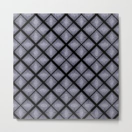 Deep Blue Diamond Mosaic Tile Design Metal Print