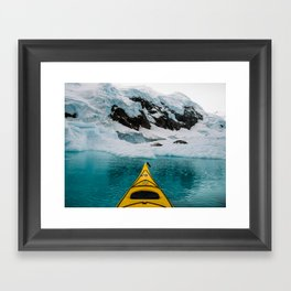 Glacial Waters and Crabeaters Framed Art Print
