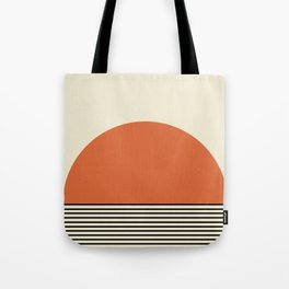 Sunrise / Sunset - Orange & Black Tote Bag