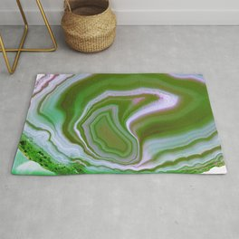 green colored agate Rug