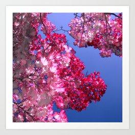 pink tree XI Art Print