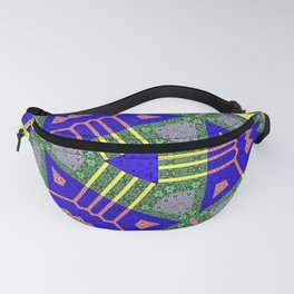 Blue Yellow Abstract Fanny Pack