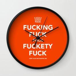Fucking Fuck Fuck Fuckety Fuck- Orange Wall Clock