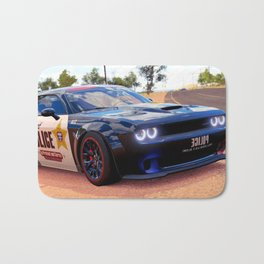 Highway Police Patrol Challenger Demon Bath Mat