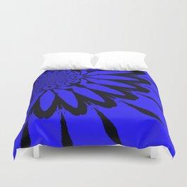 The modern flower Royal Blue Duvet Cover