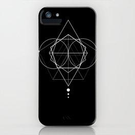 Rhombus dots geometry iPhone Case
