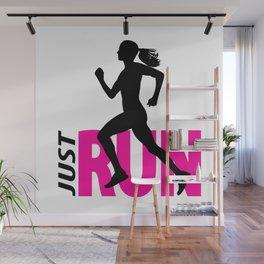 Running girl Wall Mural