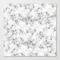 marble Canvas Prints featuring Real Marble  by Grace