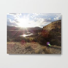 Rustler's Sunset Metal Print