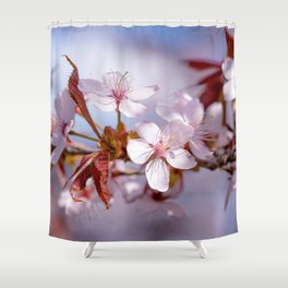 Branch of Sakura flowers Shower Curtain
