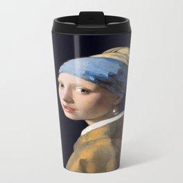 Johannes Vermeer's Girl With a Pearl Earring Travel Mug