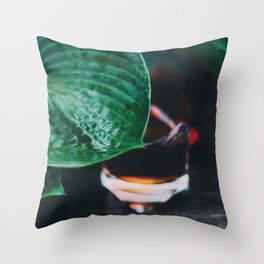 Under the leaf Throw Pillow