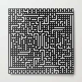 Black pattern Metal Print