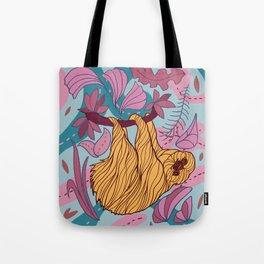 Cute funny sloth. Tote Bag