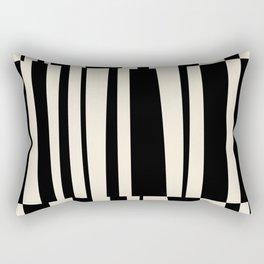 BW Oddities III - Black and White Mid Century Modern Geometric Abstract Rectangular Pillow