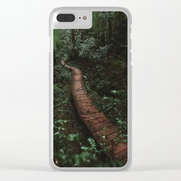 Olympic National Park Forest Trail Clear iPhone Case