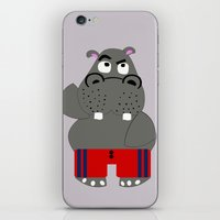 hippo iPhone & iPod Skins featuring Hippo by lescapricesdefilles