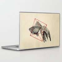 fish Laptop & iPad Skins featuring Fish In Geometrics III by Florent Bodart / Speakerine
