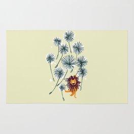 Lion on dandelion Rug