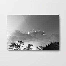 Wavy Clouds Metal Print