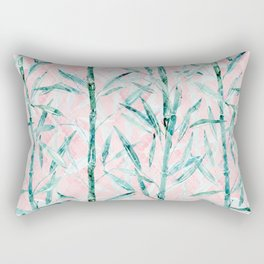 Bamboo on on Blush Background .  #decor #art # society6 Rectangular Pillow