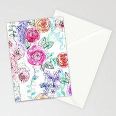 Pastel Rose Garden 02 Stationery Cards