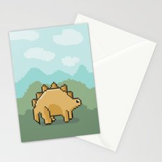 Pixel Dino! Stationery Cards