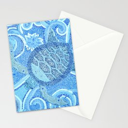Blue Mosaic Sea Turtle Stationery Cards