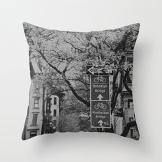 Bike Brooklyn Throw Pillow
