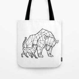 LowPoly Bear & Cat Tote Bag