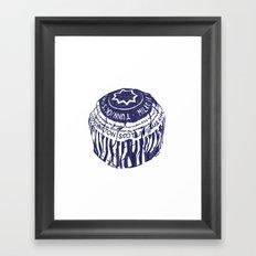 Tea cake (blue) Framed Art Print