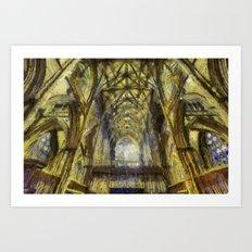York Minster Van Gogh Style Art Print