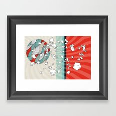 The right direction of life Framed Art Print