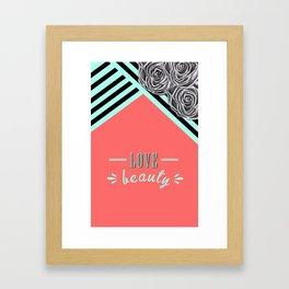 Love Beauty Framed Art Print